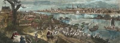 Drzeworyty XIX w. Malarstwo, widoki miast