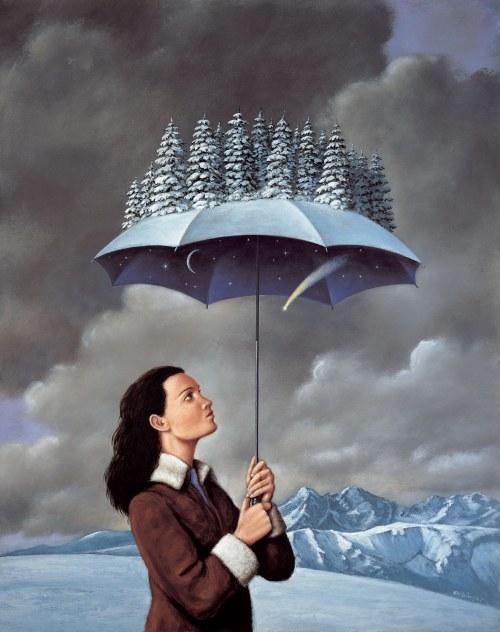 Rafał Olbiński, Zimowy parasol II