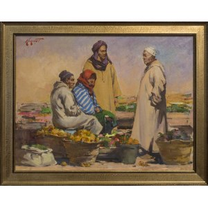 Timur Karim ( 1968 r. ), Na bazarku w Marocco, 2020