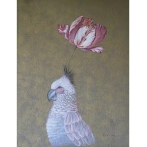 Lena Subota ( ur. 1962 r. ),  Marzenia ptaka - oryginał pracy w ramie