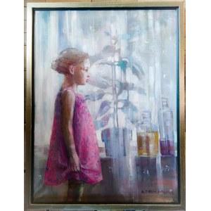 Małgorzata Zofia Maćkowiak (ur.1958), Dziewczynka w różowej sukience