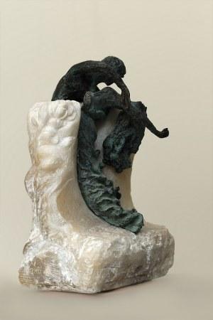 Aleksandra Kann-Bogomilska, Fala, rzeźba, unikat, w 2019 - London Art Biennale 2019  -uzyskała nagrodę First Prize For Sculpture of London Biennale )