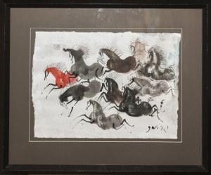 Józef Wilkoń ( ur. 1930 ), Tabun koni z czerwonym
