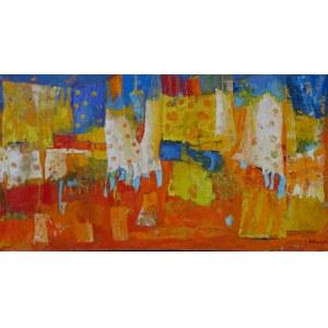 Jolanta Caban ( ur. 1962 ), Zakątek szczęścia ( 160 x 81 cm )