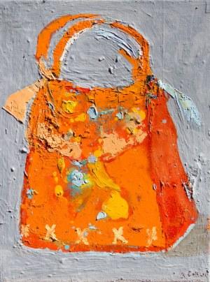 Jolanta Caban ( ur. 1962 ), Torebeczka pomarańczowa, 2021