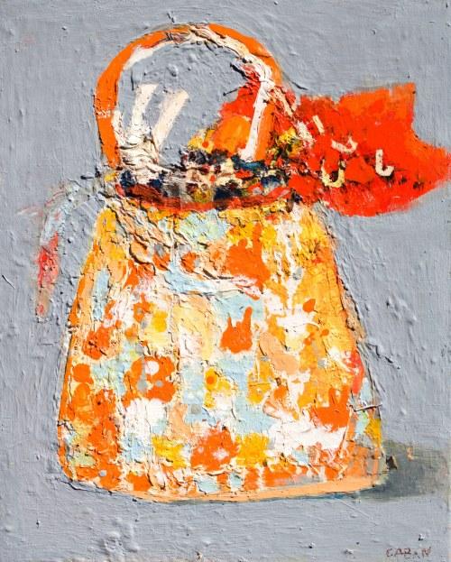 Jolanta Caban ( ur. 1962 ), Torebeczka z czerwoną chusteczką, 2021