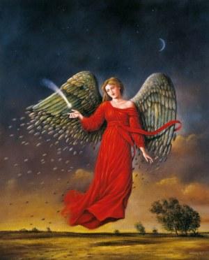 Rafał Olbiński, Autumn tale limited collection nr  I/XX format 100 x 70 cm