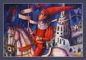 """Edward Gałustow, """"Jeździec"""""""