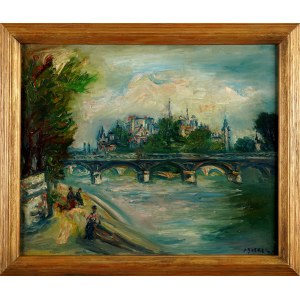 Jacques Zucker (Jakub Cukier) (1900 - 1981), Widok na Pont des Arts i Notre-Dame