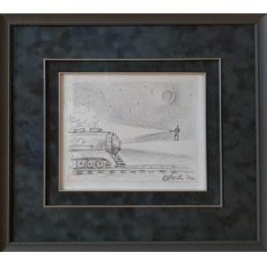 Rafał Olbiński  rysunek certyfikat, Speed of Light