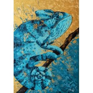 Anna Stępień (ur. 1982), Lazurowy kameleon, 2021