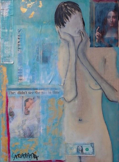 Joanna Sarapata, Akt  - kolaż