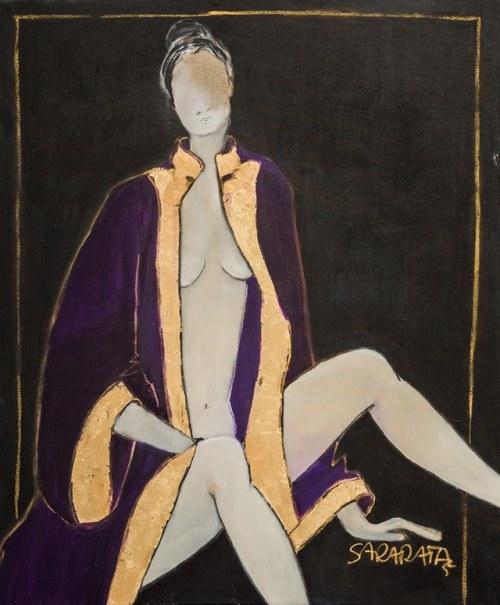 Joanna Sarapata, Akt w fiolecie