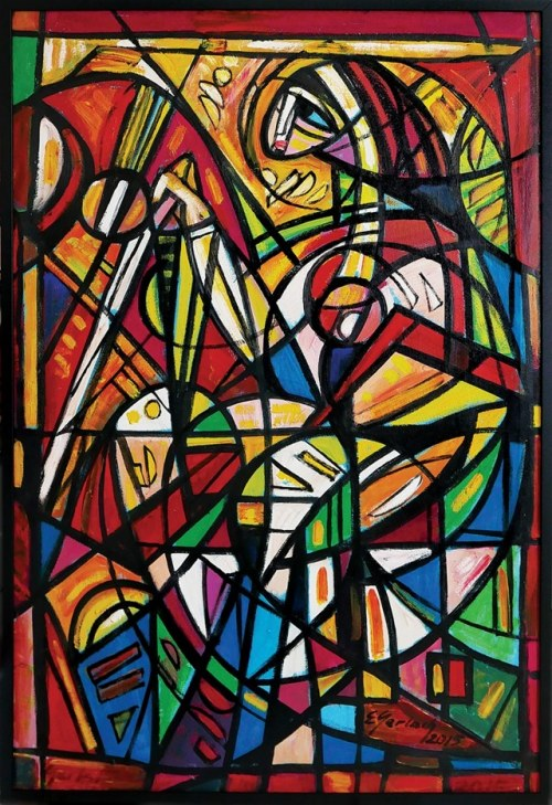 Eugeniusz Gerlach, Grająca na harfie