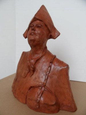 Michał Kubiak -  wykonana w jednym egzemplarzu, Jerzy Duda-Gracz, 40cm x 50cm,