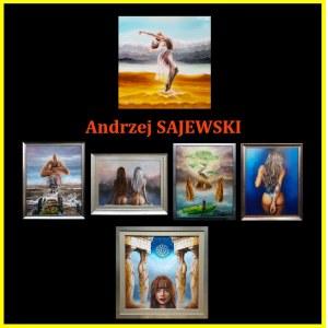 Andrzej SAJEWSKI 80x70cm, Na skrzydłach emocji