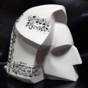 Stanisław Brach- wym. 20x22x15,, rzeźba porcelanowa - Chopin z nutami