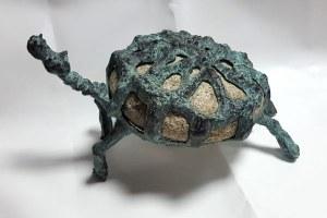 rzeźba Bronisław ChroMY długość max. 58cm, wymiary kamienia 30x27 - sygnowana - waga 23,65kg, Żółw