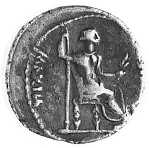 denar, Aw: Popiersie cesarza w prawo i napis ..SAR DIVI...