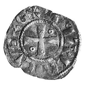 Jerozolima, Amalrich I (1162-1173), denar, Aw: Krzyż, w...