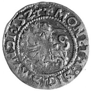 półgrosz 1524, Wilno, Aw: Pogoń i napis, Rw: Orzeł i na...