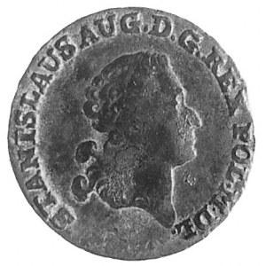 trojak z miedzi krajowej 1792, Warszawa, Aw: Głowa i na...