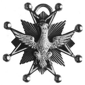 miniatura krzyża Orderu Orła Białego typ z lat 1764-183...