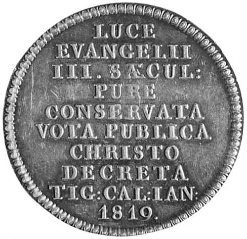 medal sygnowany A. (Alberli), wybity w 1819 r. (Zürich)...