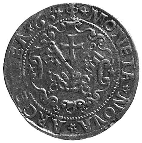 pół marki 1565, Ryga, Aw: Herb Rygi i napis, Rw: Tarcza...