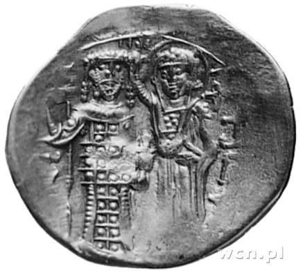 Au- hyperpyron, Aw: Chrystus na tronie, Rw: Cesarz koro...