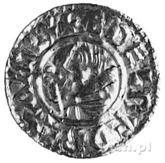 denar, Aw: Popiersie w lewo, w otoku napis: EDELRED REX...