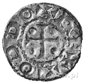 cesarz Otto III 983-1002, denar, Aw: Krzyż, w polu czte...