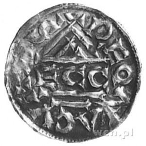 książę Henryk II Zgodny 985-995, denar, Aw: Krzyż, w po...