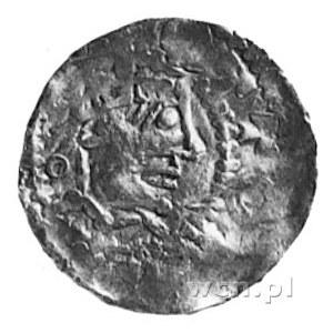 biskup Widerold, denar, Aw: Głowa w koronie i napis: OT...