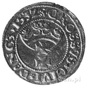 grosz 1532, Gdańsk, Aw: Popiersie i napis, Rw: Herb Gda...