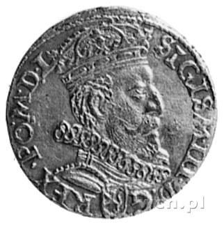 trojak 1601, Kraków, Aw: Popiersie w prawo i napis, Rw:...