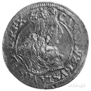 ort 1657, Elbląg- okupacja szwedzka, Aw: Popiersie Karo...