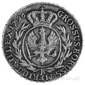 3 grosze 1796, Wrocław, Aw: Głowa i napis, Rw: Tarcza h...