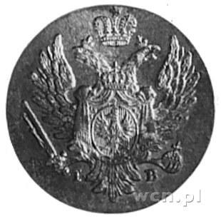 1 grosz z miedzi krajowej 1823, Petersburg, Aw: Orzeł c...