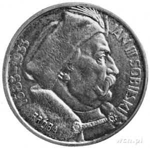 10 złotych 1933, Sobieski z napisem wypukłym PRÓBA, wyb...