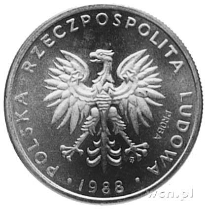 20 złotych 1988 z wypukłym napisem PRÓBA na awersie, pr...