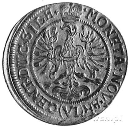 6 krajcarów 1673, Brzeg, Aw: Orzeł i napis, Rw: Tarcze ...