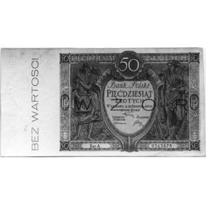 50 złotych 28.08.1925, A 0245678, Kow.109a, Pick 94, na...