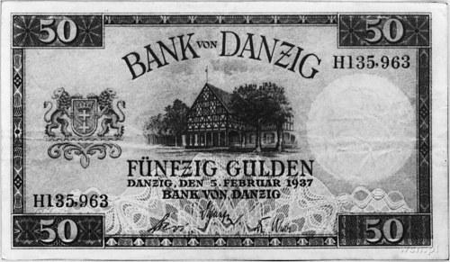 50 guldenów 5.02.1937 nr H 135.963, Pick 63