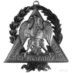 odznaka masońska Loży Orła Białego w Sankt Petersburgu;...