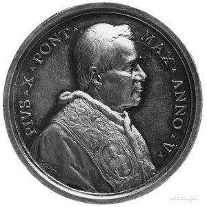 medal sygnowany BIANCHI, wybity w 1907 roku, Aw: Popier...