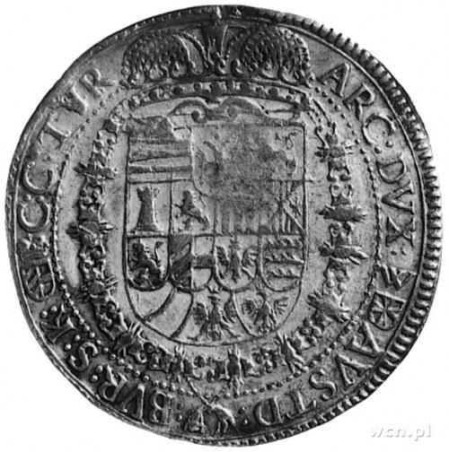 talar 1651, Wiedeń, Aw: Popiersie i napis, Rw: Tarcza h...