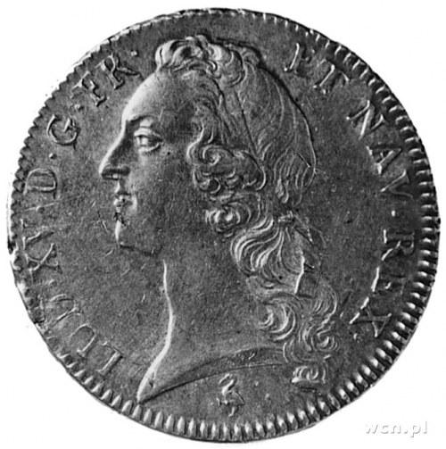 ecu 1760, Paryż, Aw: Głowa w lewo, w otoku napis, Rw: H...