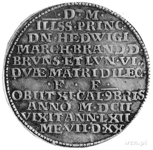 Henryk Juliusz 1598-1613, talar 1602, Aw: Dziki mąż trz...