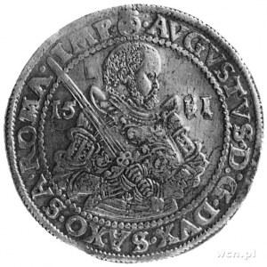 talar 1583, Drezno, Aw: Półpostać i napisy, Rw: Ozdobna...